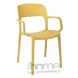 Krzesło FLEXI z podłokietnikami oliwkowe