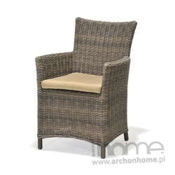 Fotel ogrodowy z poduszką KOLANTA szary